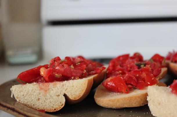 Bruschetta on French Bread