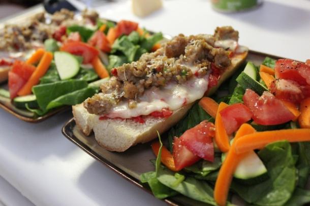 Bruschetta Pizza and Salad