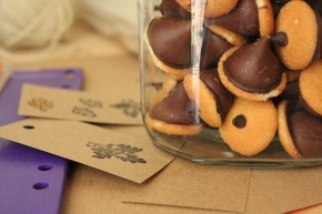 Chocolate Acorns and Stamps