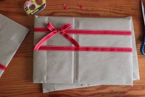 Brown Bag Christmas Wrapping
